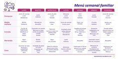 menu semanal familiar verano                                                                                                                                                                                 Más