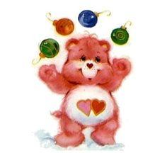 Care Bears: Love-a-Lot Juggles Christmas Ornaments Care Bears Vintage, Fairy Tale Story Book, Barbie Cartoon, Care Bear Party, Bear Clipart, Christmas Cartoons, Retro Cartoons, Barbie Toys, Cool Lettering