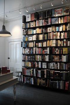 I love the overhead lights shining on the #bookshelf