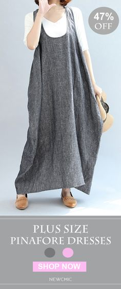 Up To 47% OFF! US$19.99 Only Casual Pure Color Irregular Loose Women Pinafore Dresses. SHOP NOW!
