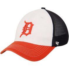 Detroit Tigers '47 McKinley Closer Flex Hat - White/Orange