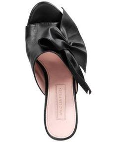 Avec Les Filles Marie Bow Block-Heel Slides - Pink 6M