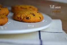 Gluten-Free Pumpkin Chocolate Chip Cookies - use Crisco instead of butter & egg sub to make these allergy friendly.  Delicious!