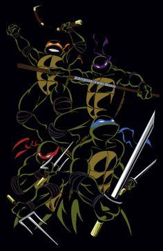 The Ninja Turtles Ninja Turtles Art, Teenage Mutant Ninja Turtles, Tmnt Wallpaper, We All Mad Here, Turtles Forever, Tmnt 2012, Cultura Pop, Movies, Carnival Parties