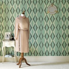 Vintage-inspired wallpaper from Graham & Brown