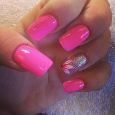 Trendy nails french tip with design summer hot pink ideas Hot Pink Nails, Fancy Nails, Pretty Nails, Pink Leopard Nails, Pink Summer Nails, Glittery Nails, Gorgeous Nails, Spring Nails, Acrylic Nail Designs
