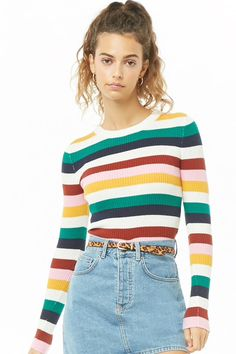 363a976d76636 Ribbed Multicolor Stripe Sweater. Forever 21 ...