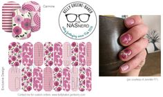 Diggin' it?! Click to get warped over to The NAS Nerd's Marketplace Designer Studio! Express your style w/ custom nail wraps!  • Don't have a personal consultant of your own? New to the Jamberry Universe? Message me on my Facebook Fan Page w/ design requests or an invite to join my VIP customer group! www.facebook.com/KellyGBTheNASNerd/  • nail art cosplay costume diy manicure pedicure lacquer gel handcare Carmine lavendar, pink, plum, flowers, stripes, feminine, purple, gray