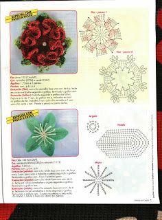Mania-de-Tricotar: Flores em crochê!  http://mania-de-tricotar.blogspot.com.br/