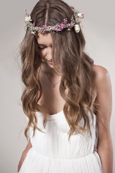 Bohemian Wedding Dress:  Chiffon Sweetheart Top and Shirred Chiffon Skirt.