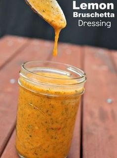 Lemon Bruschetta Salad Dressing | 18 Homemade Salad Dressing Recipes
