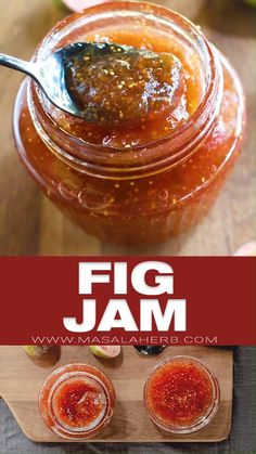 Homemade Fig Jam Recipe prepared easily without artificial pectin. How to make fig preserve that keeps months incl. Fig Recipes, Jelly Recipes, Chutney Recipes, French Recipes, Easy Jam Recipes, Homemade Jam Recipes, Fig Chutney Recipe, Crepe Recipes, Waffle Recipes