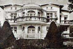 Pensjonat Willa Halina widziana od frontu na reklamie z 1934 r.