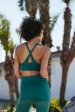 PRODUCT DETAILS BrasbyFree People Movement This sleek sports bra keeps you cool and comfortable through any activity. Plunging front with a front cutout detail and criss-cross back design add fierce fashion elements to this sleek performance style. Wear a stand alone crop, or pair under your favorite workout tee for a flattering look.   45% Nylon 40% Cotton 15% Elastane Machine Wash Cold Import