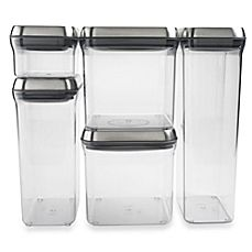 OXO SteeL® POP 5-Piece Stainless Steel Food Storage Container Set