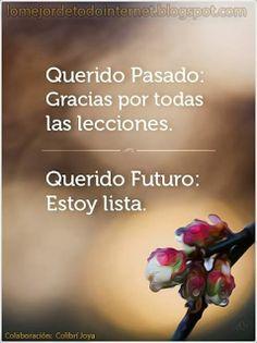 querido pasado: gracias por todas las lecciones aprendidas. querido futuro: estoy lista- mcga.- http://www.gorditosenlucha.com/