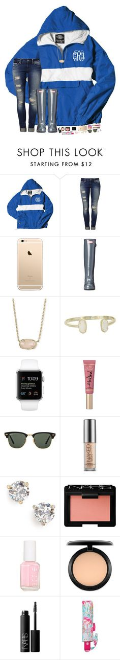 """I had a good day todayyyyyy!"" by hopemarlee ❤ liked on Polyvore featuring Mavi, Hunter, Kendra Scott, Too Faced Cosmetics, Ray-Ban, Urban Decay, Kate Spade, NARS Cosmetics, Essie and MAC Cosmetics"