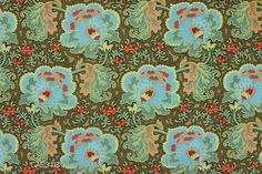 Amy Butler Fabric - Gothic Rose in Blue from Belle