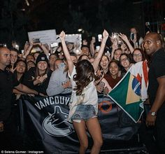Look like a rock star in some patched denim shorts like Selena. Click 'Visit' to buy now. #DailyMail