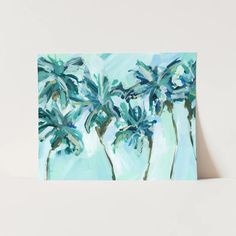 Tropical Palm Tree Painting Wall Art Print or Canvas – Jetty Home