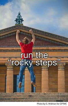 I did this in tap shoes in the oldest Thanksgiving day parade for four years straight.  I conquered the Rocky steps like a true Philadelphian.