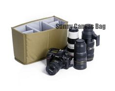 Large DSLR Camera Bag Insert with Padded Velcro by SunnyCanvasBag, $20.00