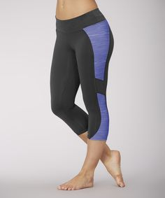 This Balance Collection Royal Blue Space-Dye Capri Leggings by Balance Collection is perfect! #zulilyfinds