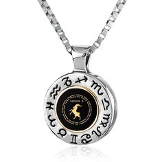 Sagittarius Sign, 925 Sterling Silver with Gold Necklace, Onyx 14k Gold Necklace, 14k Gold Ring, Men Necklace, Sterling Silver Necklaces, Stone Necklace, Silver Ring, Silver Earrings, Small Necklace, Unique Necklaces