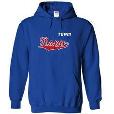 Team Rapp - #thoughtful gift #small gift. LIMITED AVAILABILITY => https://www.sunfrog.com/LifeStyle/Team-Rapp-vmryhfdlrk-RoyalBlue-22218652-Hoodie.html?68278