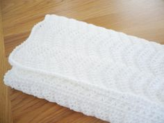 White Baby Blanket by Aalexi on Etsy,
