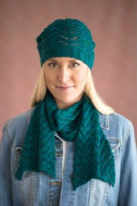 The Shannon #Hat and #Scarf Set - from the Spring 2015 Issue of Love of #Knitting magazine