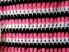 SANDRA PONTOS DE CROCHÊ E TRICÔ...........: Ponto gatinho Crochet cat stitch.