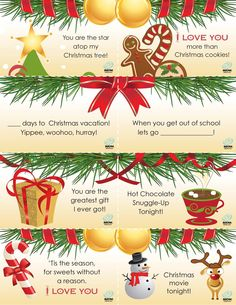 Christmas Lunchbox Notes   #christmas #printables