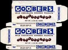 """Ward Candy Company - Goobers - milk chocolate covered peanuts - candy box - 1970s,"" photo by JasonLiebig, via Flickr"