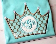Monogram Crown Applique - 4 Sizes! | What's New | Machine Embroidery Designs | SWAKembroidery.com Creative Appliques