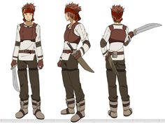 Character design by Shingo Adachi for the Sword Art Online anime. Klein in Sword Art Online: Infinity Moment.