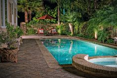 Small Swimming Pool Design Ideas - Like the brick pavers also for a small courtyard.