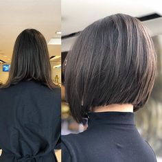 Dark Brown-Short-Bob Popular Bob Hairstyles 2019 - Top Trends Short Bobs Haircuts Look Sexy and Charming! Bob Haircut For Fine Hair, Bob Hairstyles For Fine Hair, Brown Hairstyles, Brown Bob Haircut, Scarf Hairstyles, Braided Hairstyles, Classic Bob Haircut, Haircut Bob, Hairdos