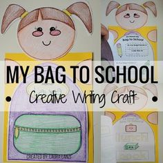"""Back to School Craft: It's that exciting time of year again! It is a new school year with new students and this """"bag"""" to school craft is exactly what you need to start the school year off right!"""