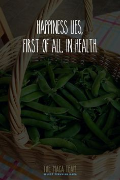 💚 Health and happiness go together like peas in a pod.