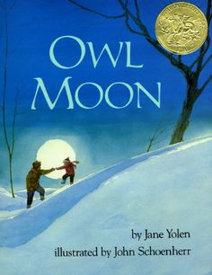 Owl Moon: Jane Yolen, John Schoenherr: Good for similes and metaphors Moon Activities, Nature Activities, Montessori Activities, Winter Activities, Preschool Activities, Jane Yolen, Similes And Metaphors, Owl Moon, Five In A Row