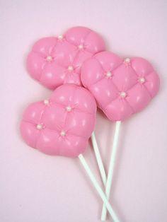 Medium Tufted Heart Chocolate Lollipop Mold - http://www.fancyflours.com/product/tufted-heart-chocolate-lollipop-mold/valentines-party-theme