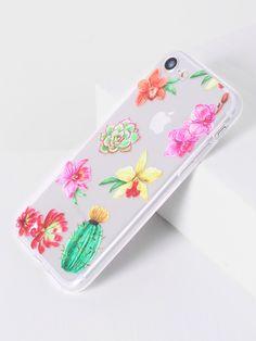 6ac9e61644 Shop Flower Print Clear iPhone 7 Case online. SheIn offers Flower Print  Clear iPhone 7