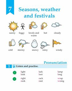 English Book Grade 3 Seasons, Weather And Festivals