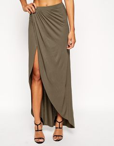 Image 4 of ASOS Wrap Maxi Skirt in Jersey