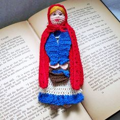 little red riding hood crochet bookmark by AndersonsCreations, $6.45