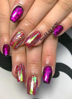 Day 362: Purple & Peach Nail Art