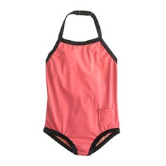 Girls' tipped pocket halter tank Love this style and color. Perfect for M