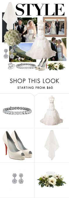 """""""Chelsea Clinton's wedding look"""" by ivanoe ❤ liked on Polyvore featuring Marc, Blue Nile, Vera Wang, Christian Louboutin, Temperley London, Mimi So and Nearly Natural Chelsea Clinton Wedding, Temperley, Wedding Looks, Blue Nile, Vera Wang, Christian Louboutin, London, Shoe Bag, Natural"""