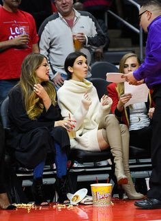 01.07.15 - Attending the Clippers game in Los Angeles - 461161878 - JennerPhotos // A Part of Jenner-News.com